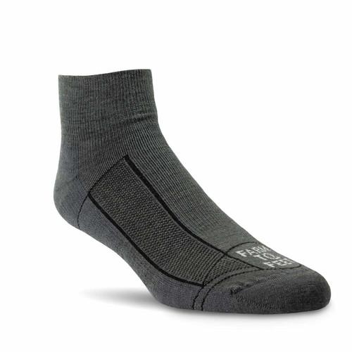 Farm To Feet Greensboro 1/4 Socks - Dark Shadow