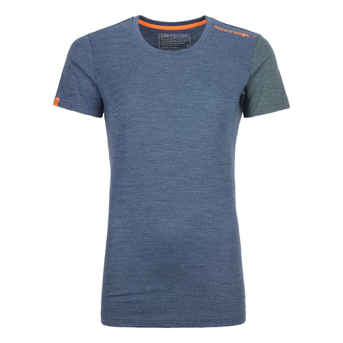 Women's Merino Rock'N'Wool Short Sleeve - Night Blue Blend