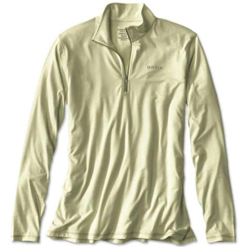 Orvis OutSmart Zipneck Tech Shirt - Light Sage