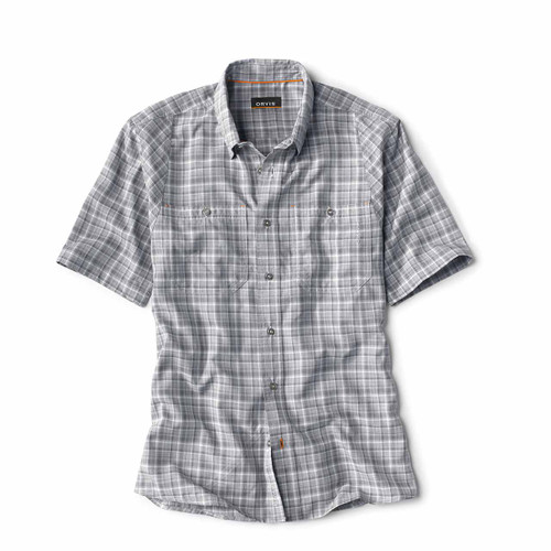 Orvis Men's Tech Chambray Plaid Work Shirt - Dusk