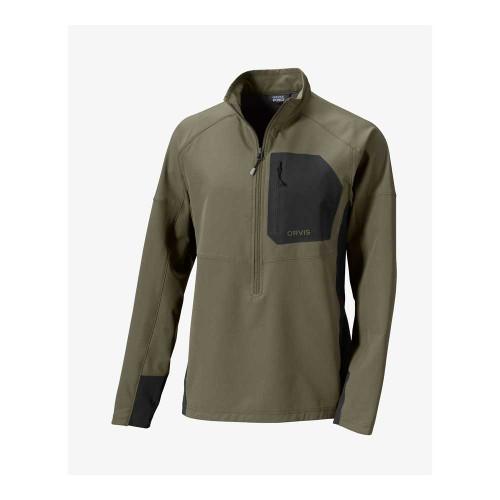 Orvis Pro LT Softshell Pullover - Olive