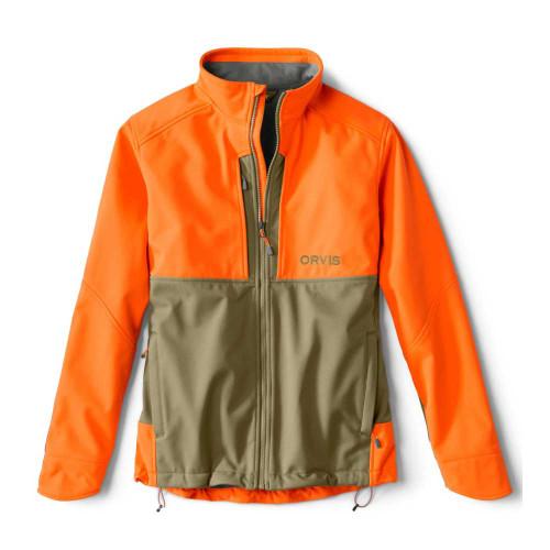 Orvis Upland Hunting Softshell Jacket - Tan/Blaze