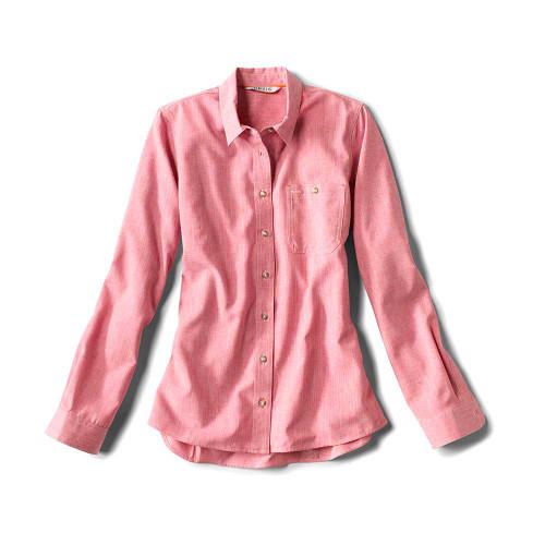 Orvis Tech Chambray Women's Work Shirt - Weathered Pink