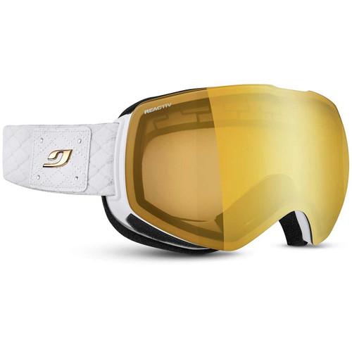 Julbo Shadow Goggle - White/Chic - REACTIV Performance 2-4 Gold Flash Lens
