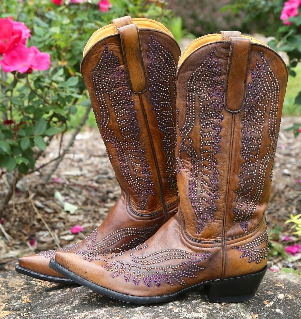 Old Gringo Eagle Swarovski Crystal Boots L443-14 Picture