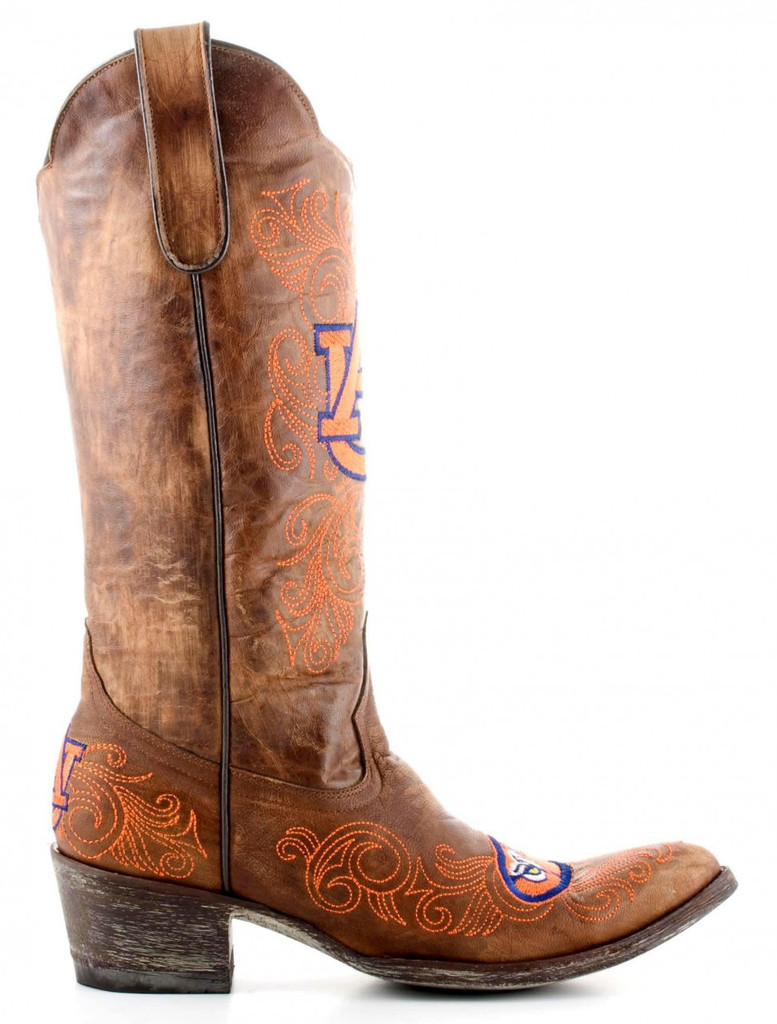 Gameday Auburn Boots Side