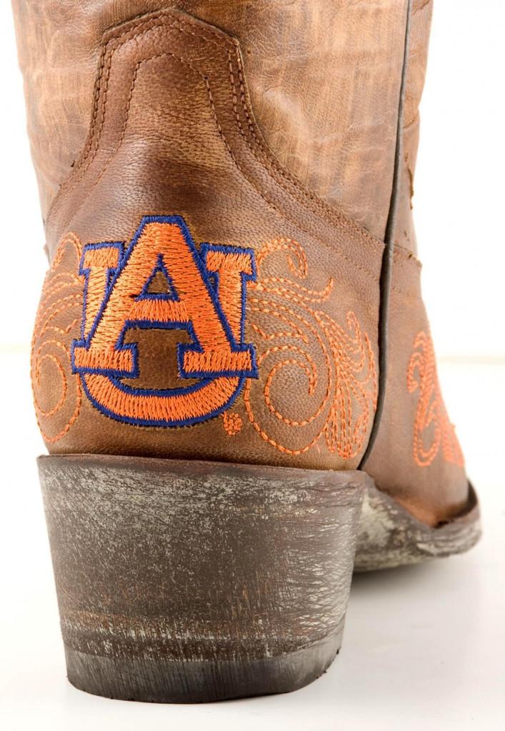 Gameday Auburn Boots Heel