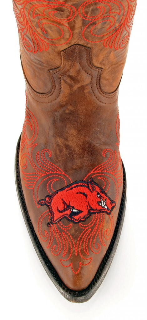 Gameday Arkansas Boots Toe
