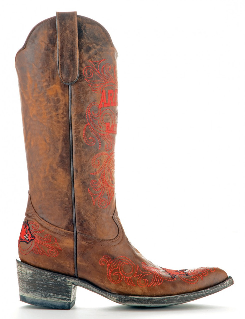 Gameday Arkansas Boots Side