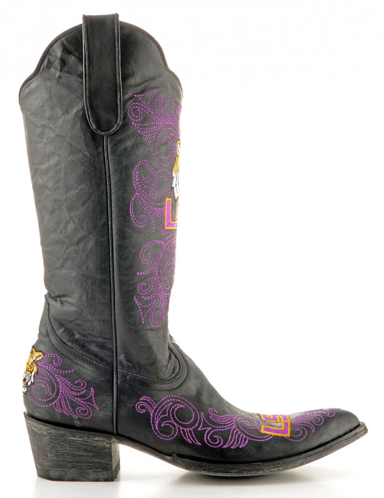 Gameday Louisiana State Boots Side