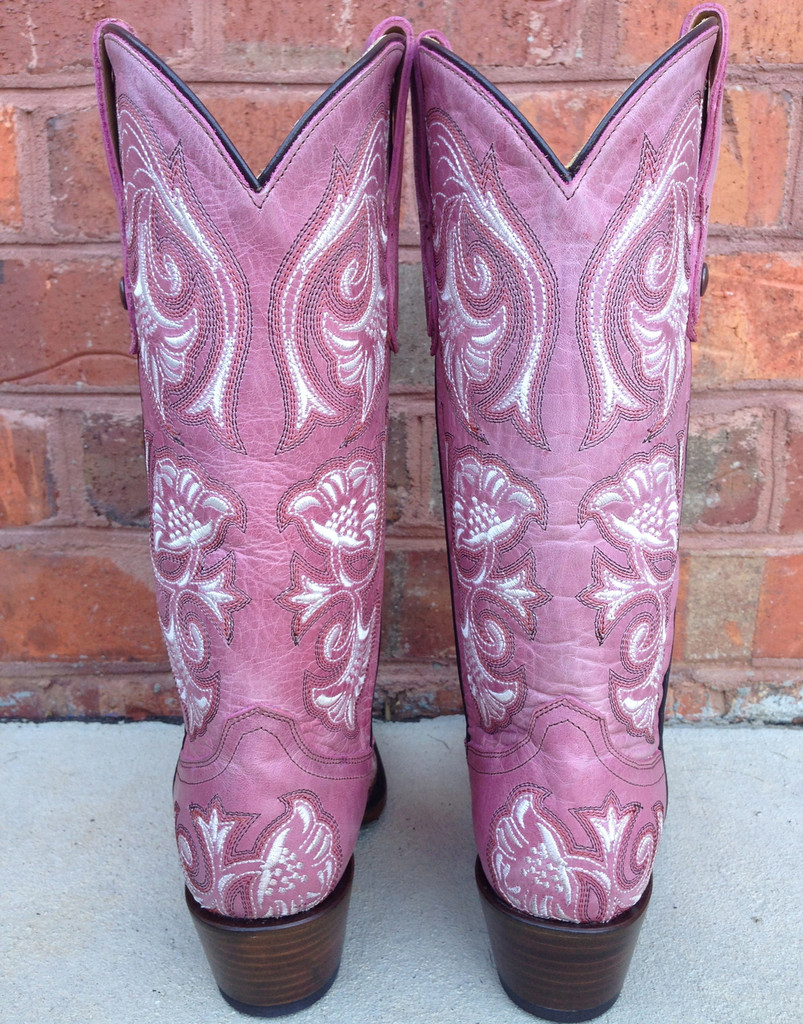 Corral Pink Floral Full Stitch Boot Picture