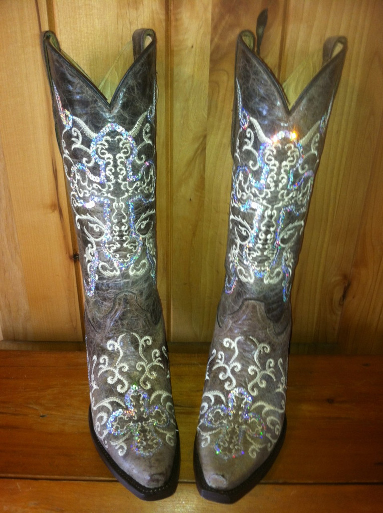 Corral Silver Cross Boots A1187