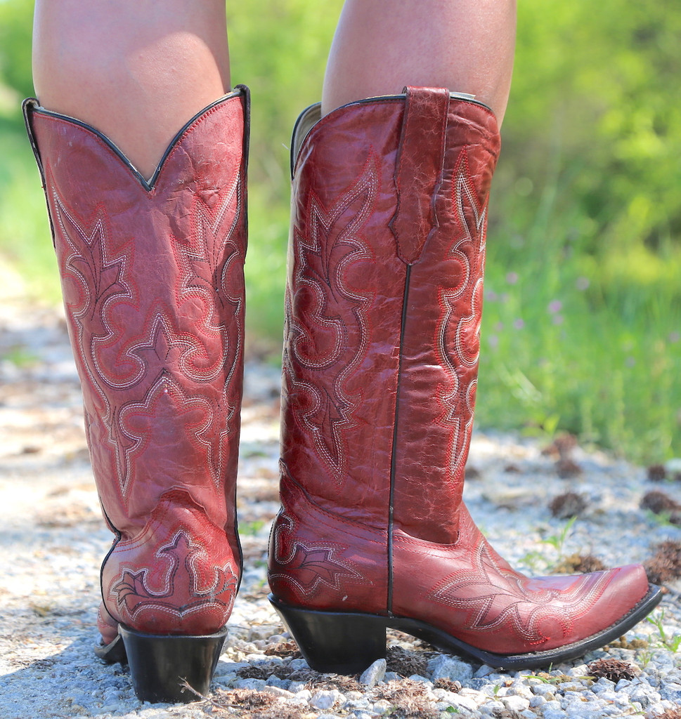 Corral Desert Red Goat Boots R1952 Heel