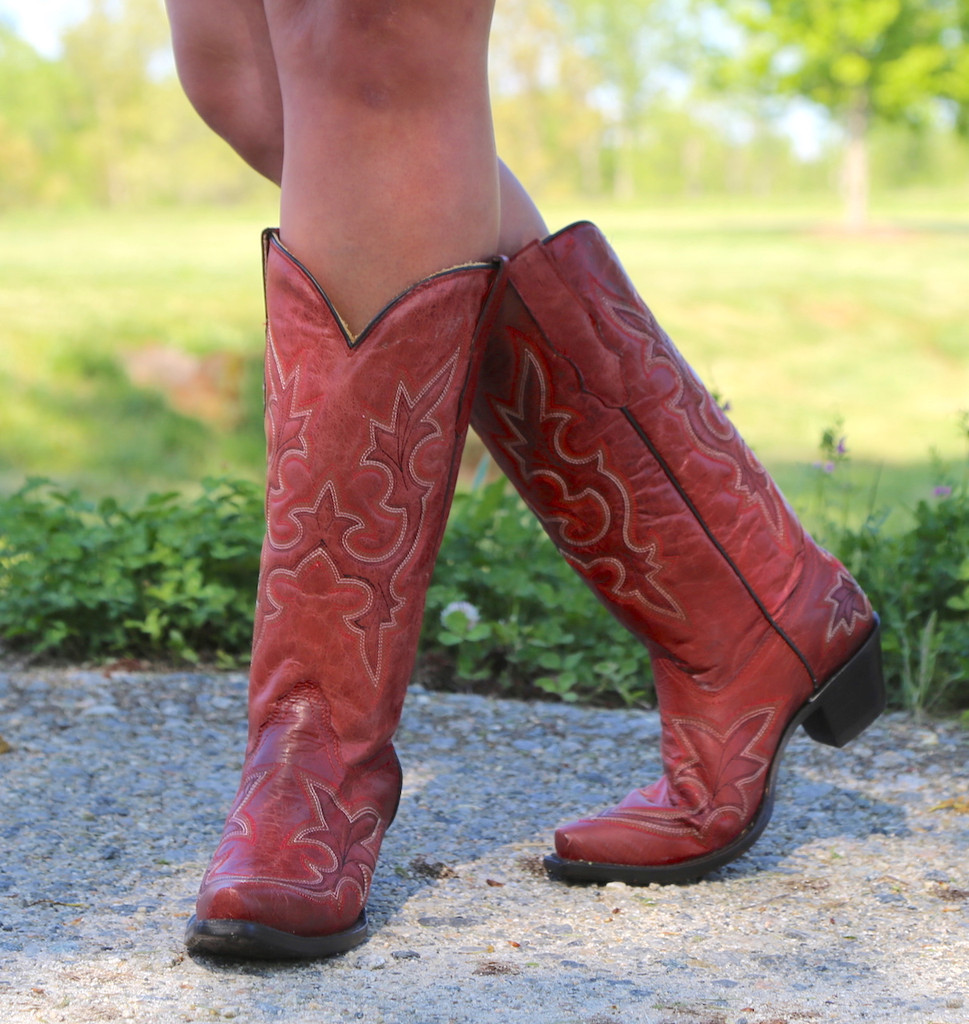 Corral Desert Red Goat Boots R1952 Picture