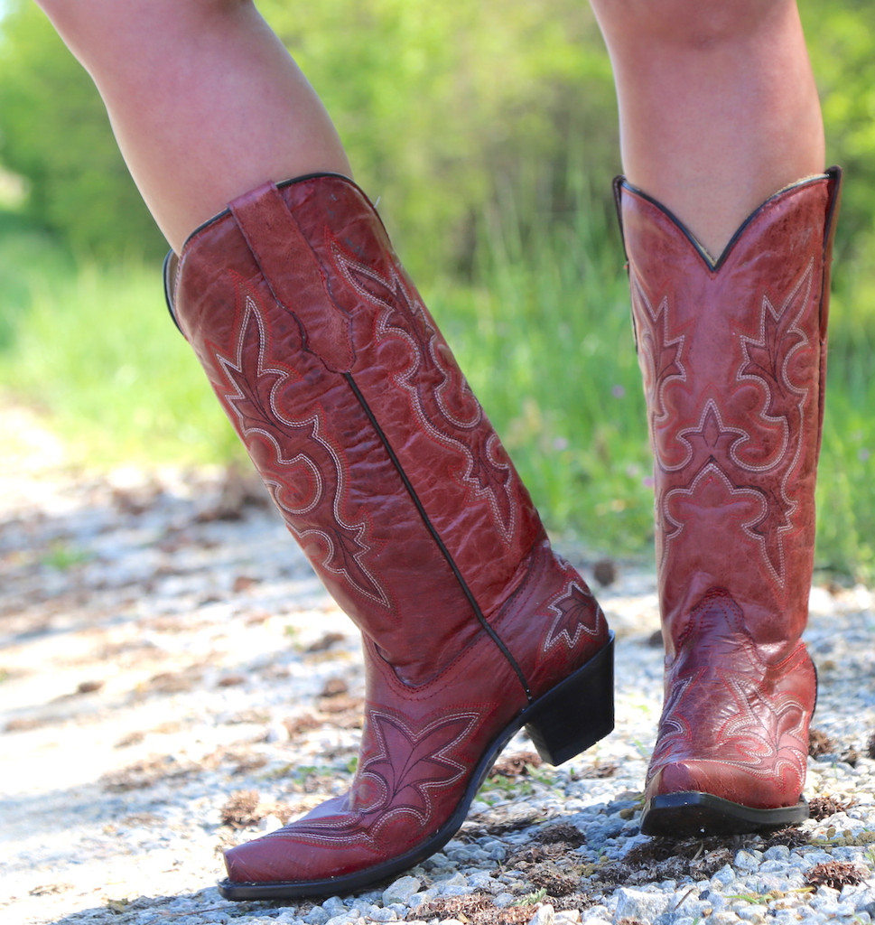 Corral Desert Red Goat Boots R1952 Image