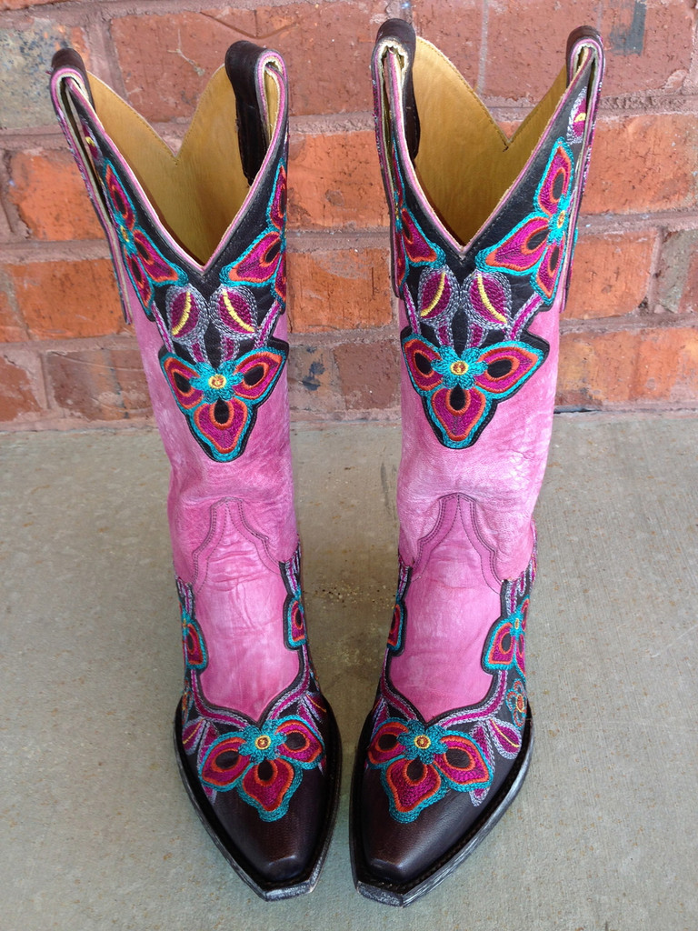 Old Gringo Marrione Pink Boot