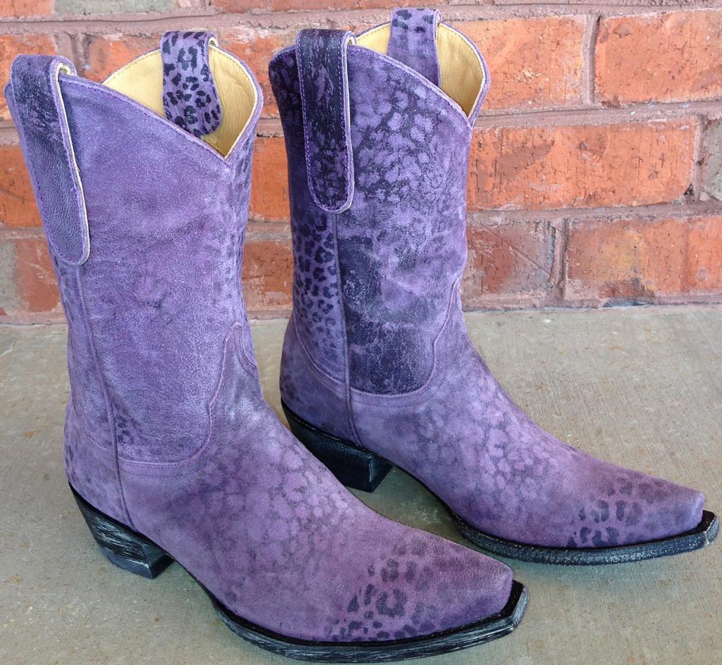 "Old Gringo Leopardito Purple 10"" Boots L168-13"