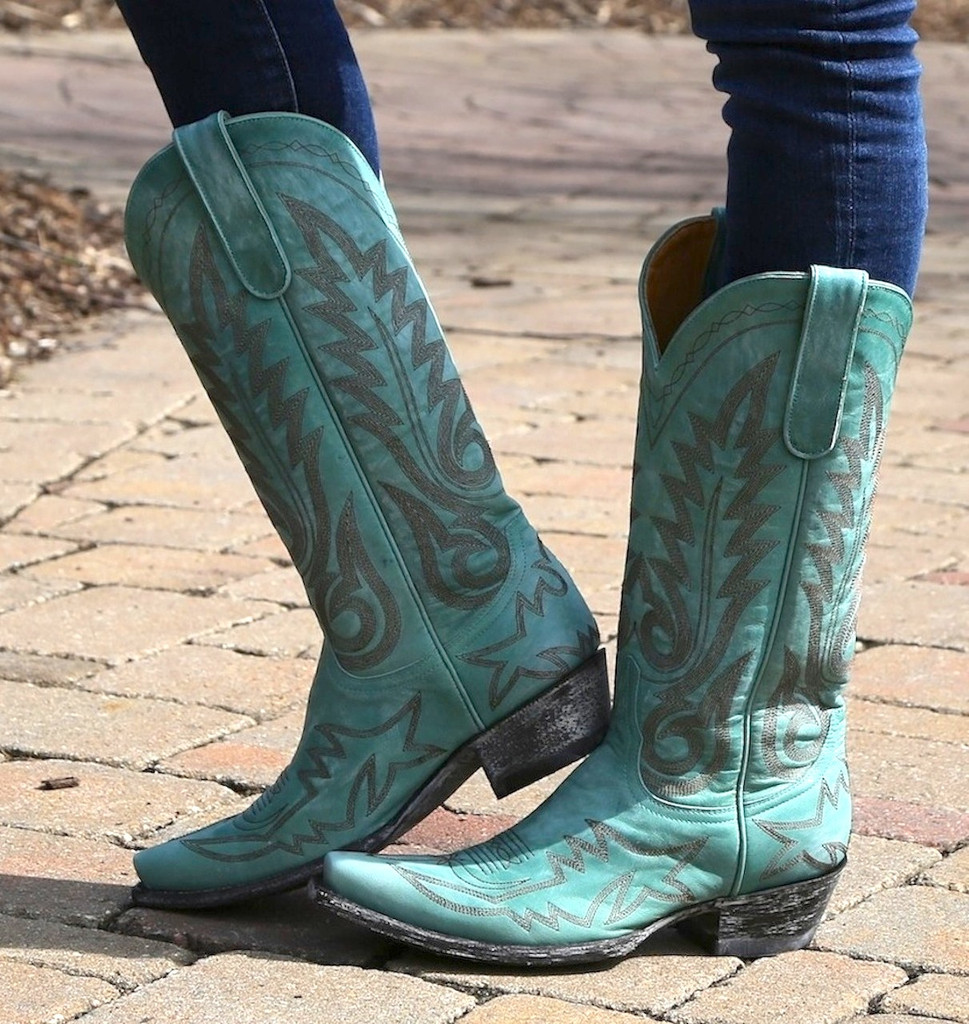 Old Gringo Nevada Aqua Boots L175-352 Picture