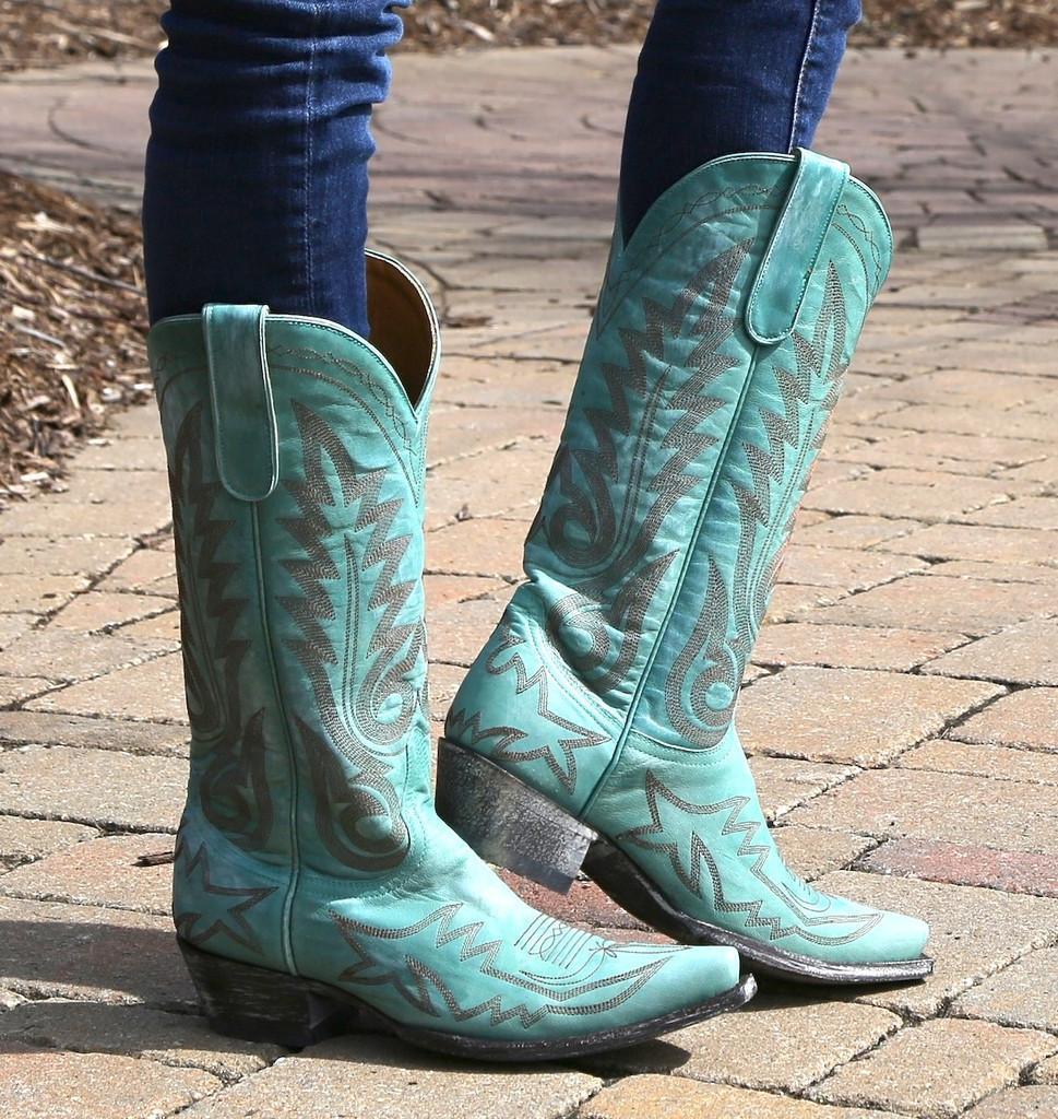 Old Gringo Nevada Aqua Boots L175-352