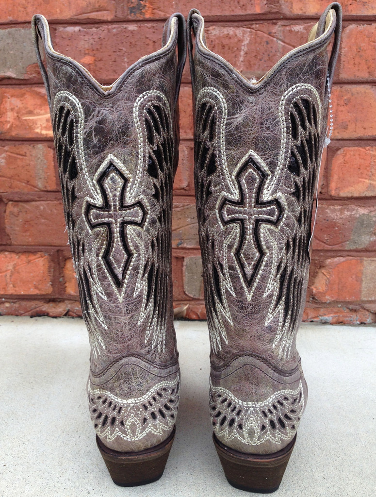 Corral Brown Black Wing and Cross Picture