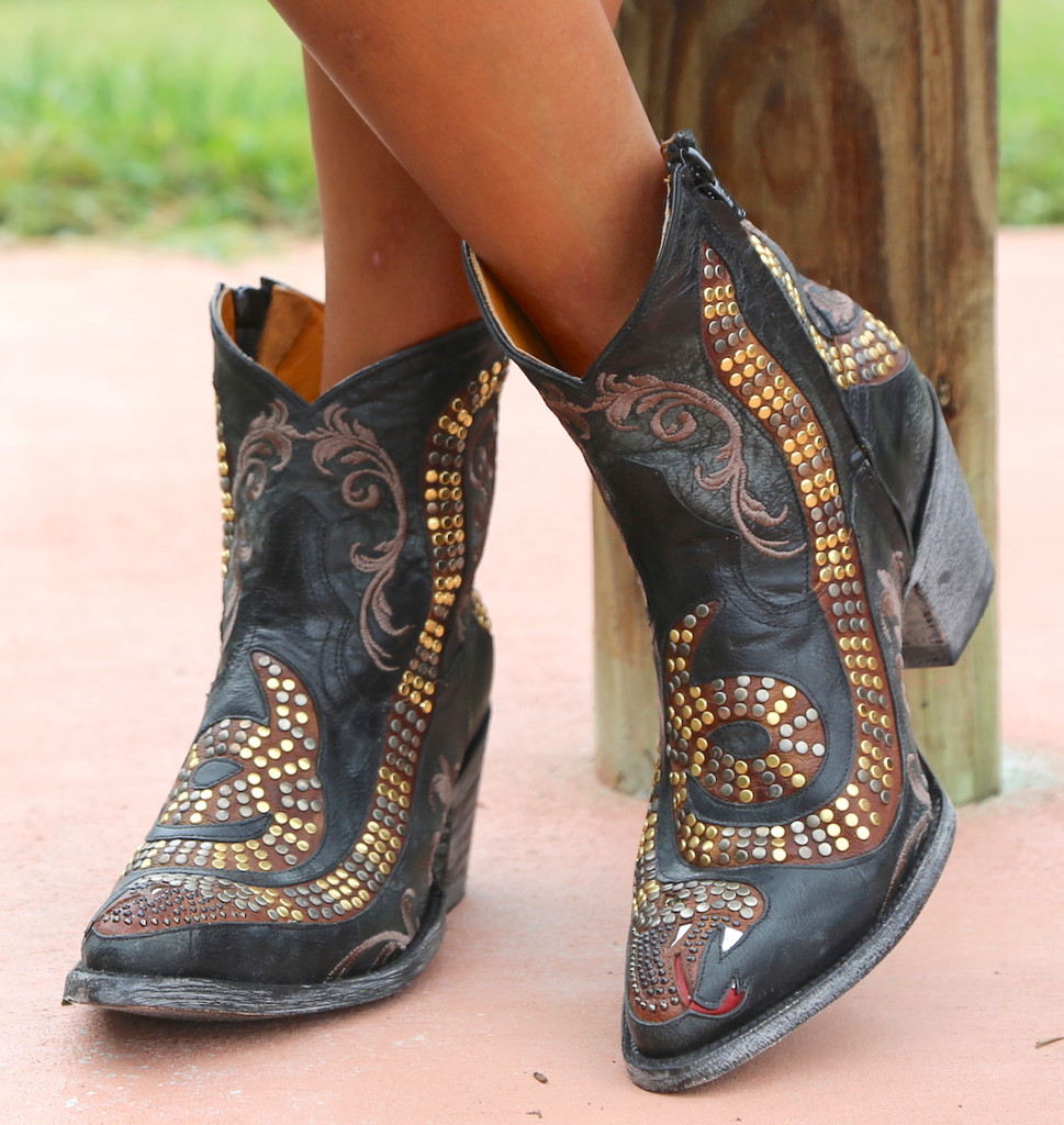 Old Gringo Snake Zipper Boots L1177-1  Toe 2