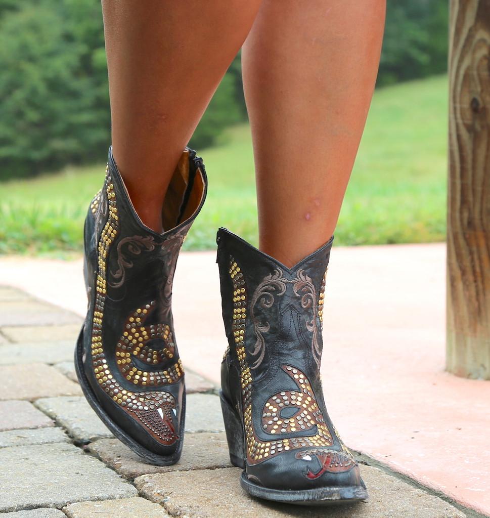 Old Gringo Snake Zipper Boots L1177-1 Walk
