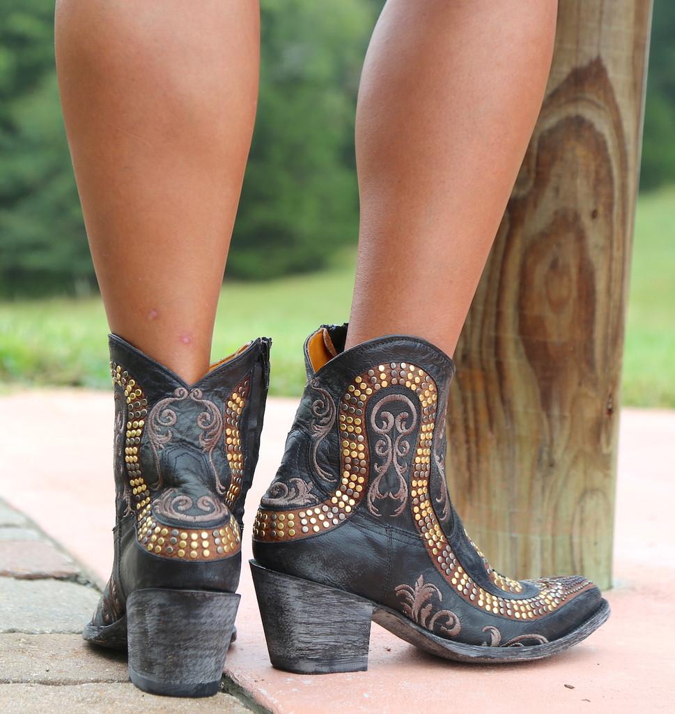 Old Gringo Snake Zipper Boots L1177-1 Heel