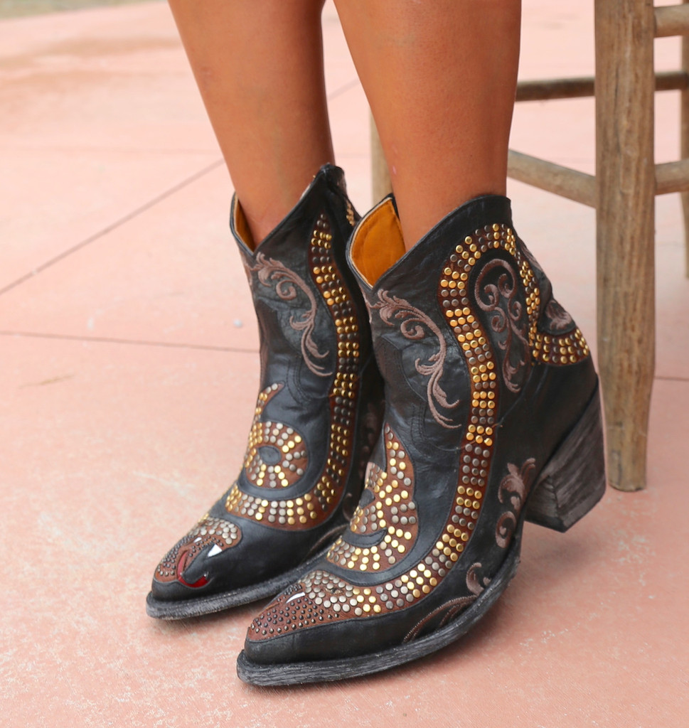 Old Gringo Snake Zipper Boots L1177-1 Chair