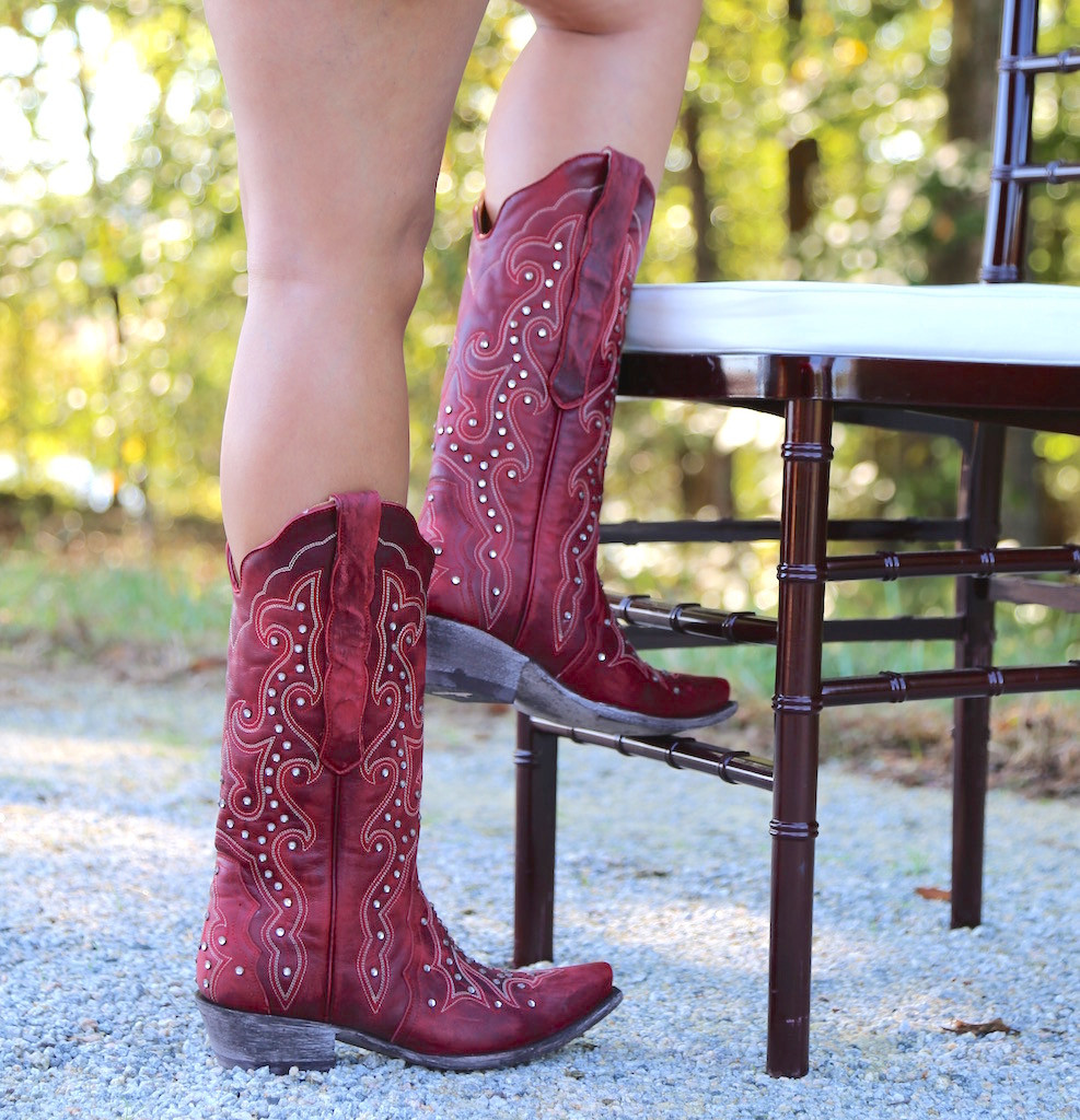 Old Gringo Celeste Crystal Red Boots L888-11 Chair