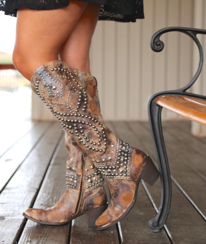 Old Gringo Belinda Tan Boots L903-16 Side