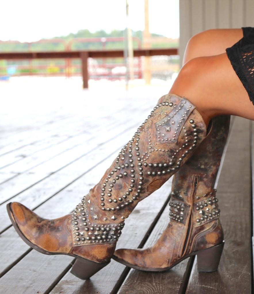 Old Gringo Belinda Tan Boots L903-16 Sit