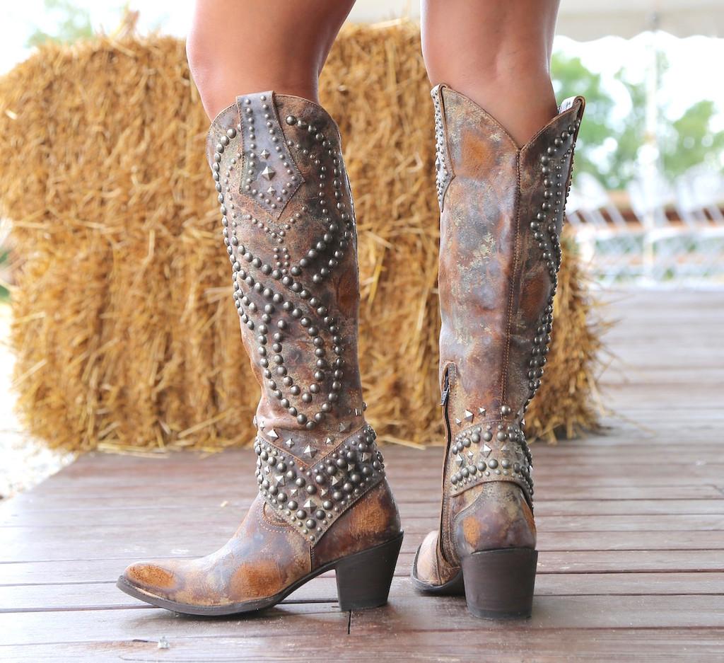 Old Gringo Belinda Tan Boots L903-16 Heel