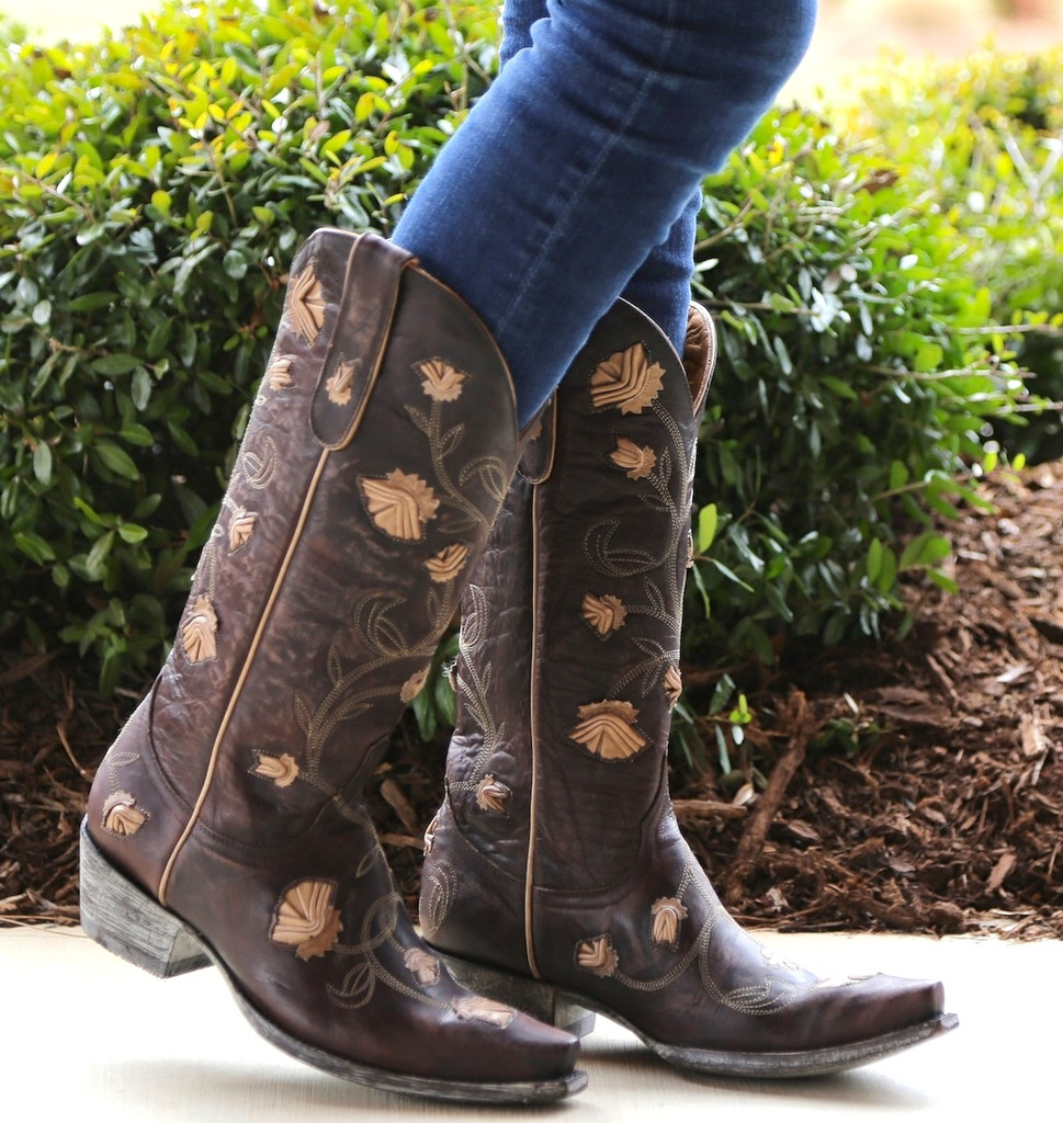 Old Gringo Abby Rose Chocolate Bone Boots L664-12
