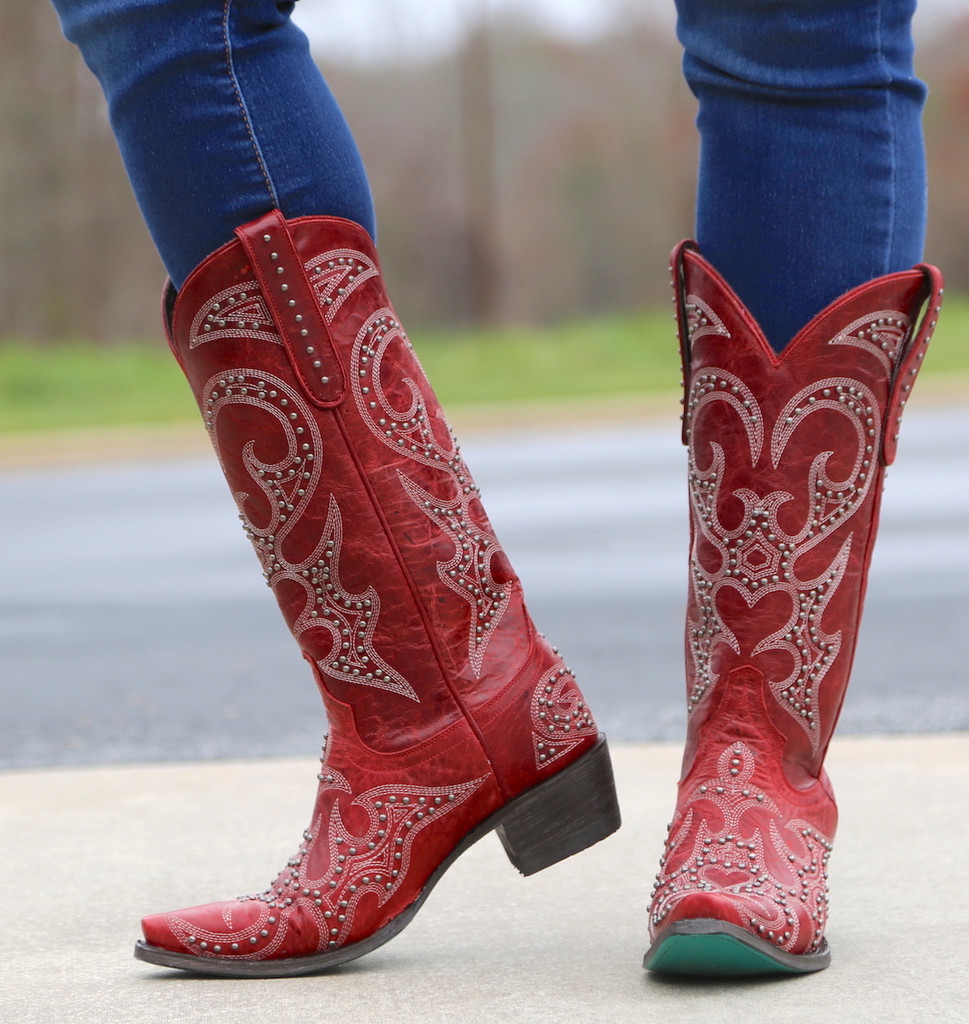 Lane Lovesick Stud Red Boots LB0199C Image