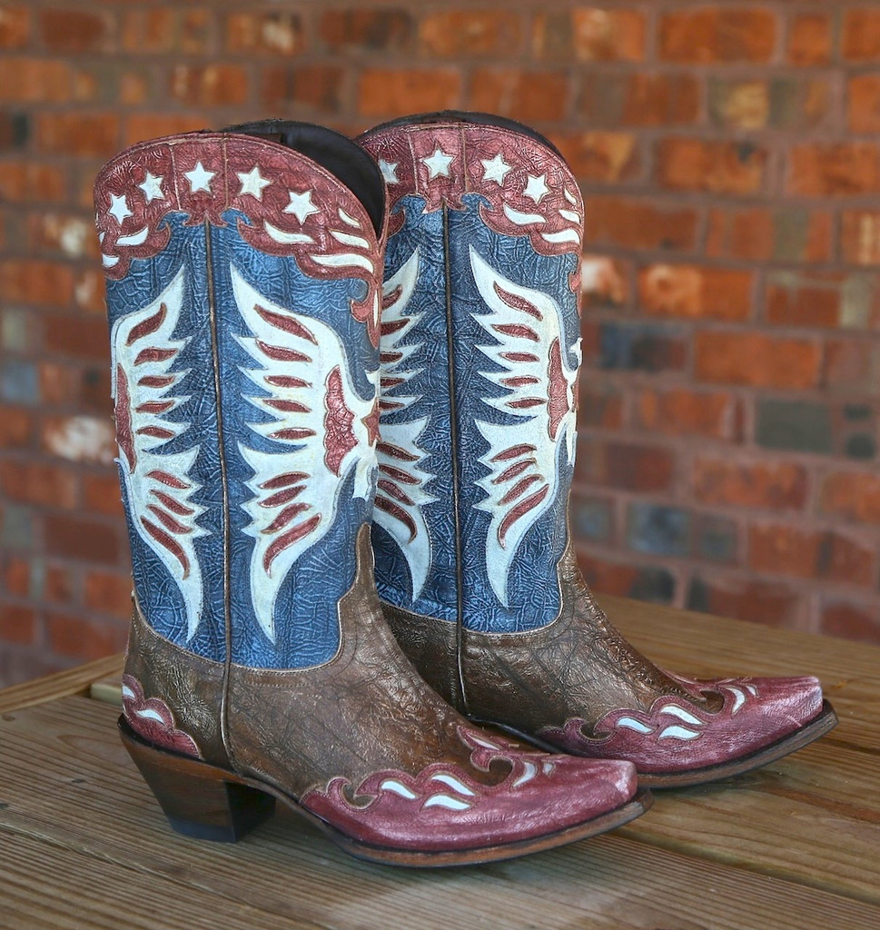 Lane for Double D Ranch Star Spangled Rodeo Boots DD9034A Image
