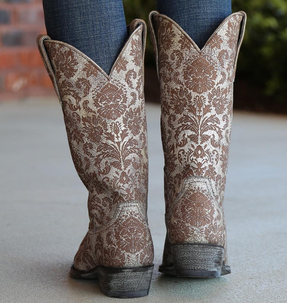 Old Gringo Nadia Milk Boots L1642-5 Heel