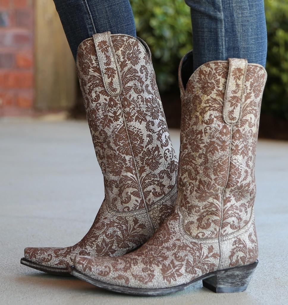 Old Gringo Nadia Milk Boots L1642-5 Side