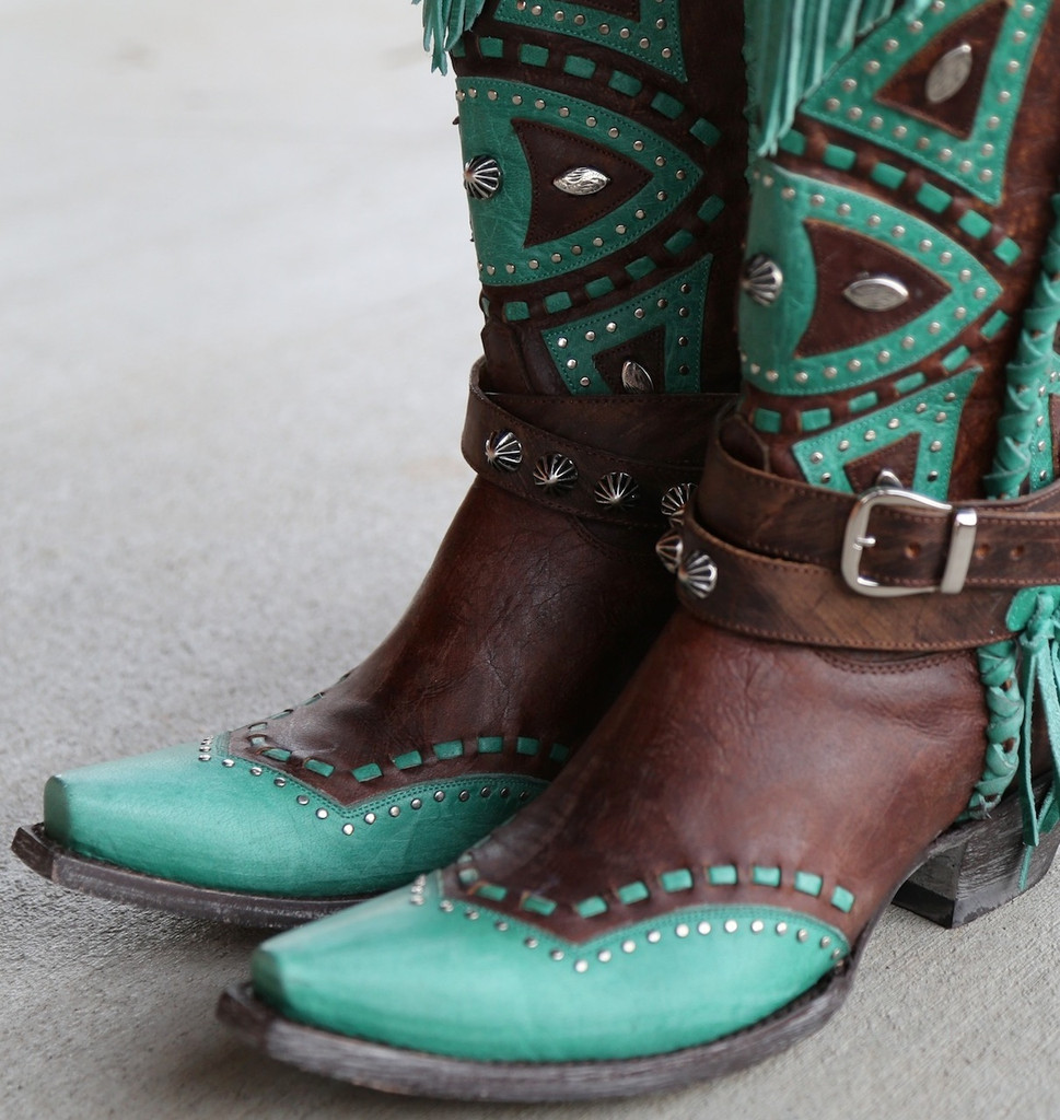 Old Gringo Buho Brass Turquoise Boots L2249-2 Toe