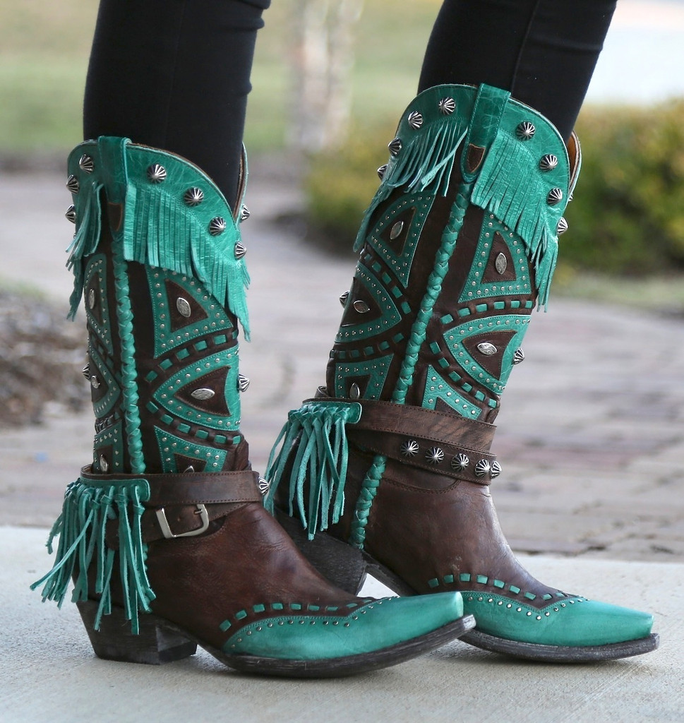 Old Gringo Buho Brass Turquoise Boots L2249-2 Picture
