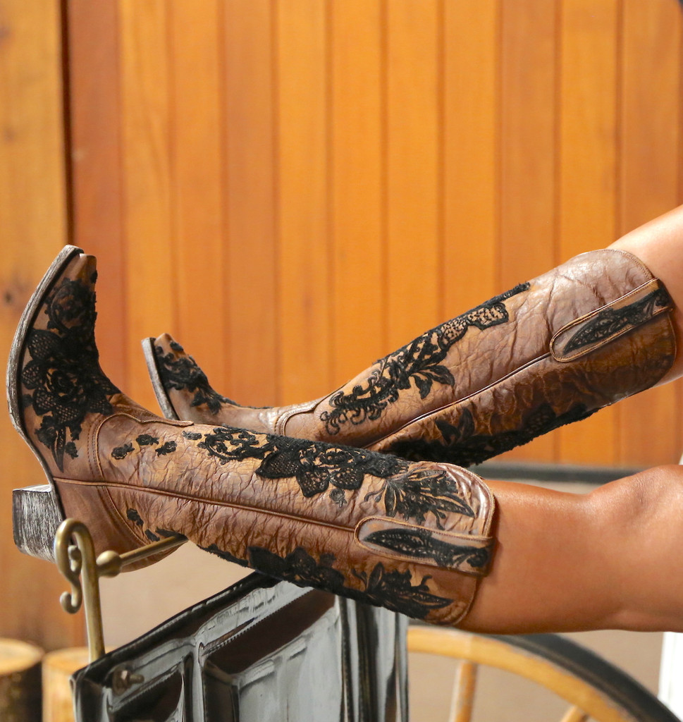 "Old Gringo Nicolette 15"" Brass Boots L2310-2 Picture"