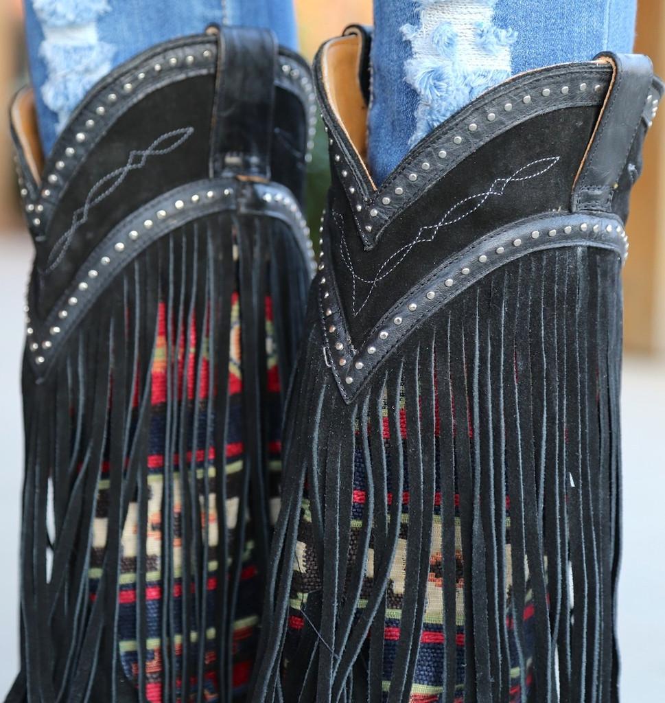 Old Gringo Crudge Black Boots L2257-2 Collar