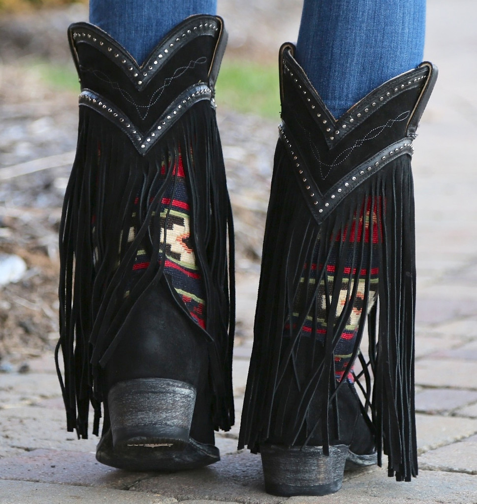 Old Gringo Crudge Black Boots L2257-2 Heel