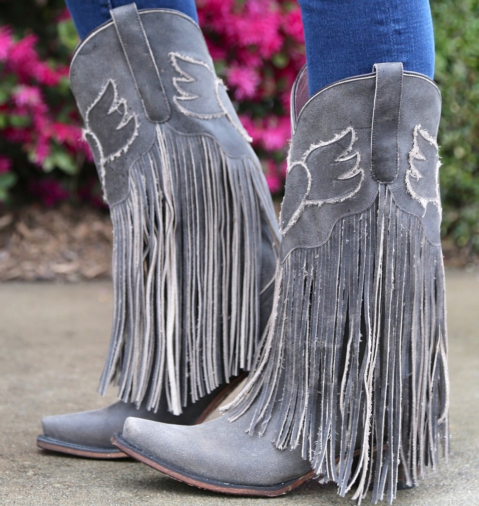 Junk Gypsy by Lane Dreamer Boots JG0004A Fringe