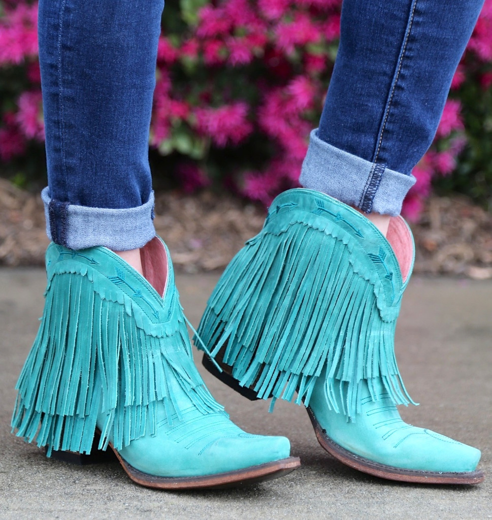 Junk Gypsy by Lane Spitfire Turquoise Boots JG0007D Image
