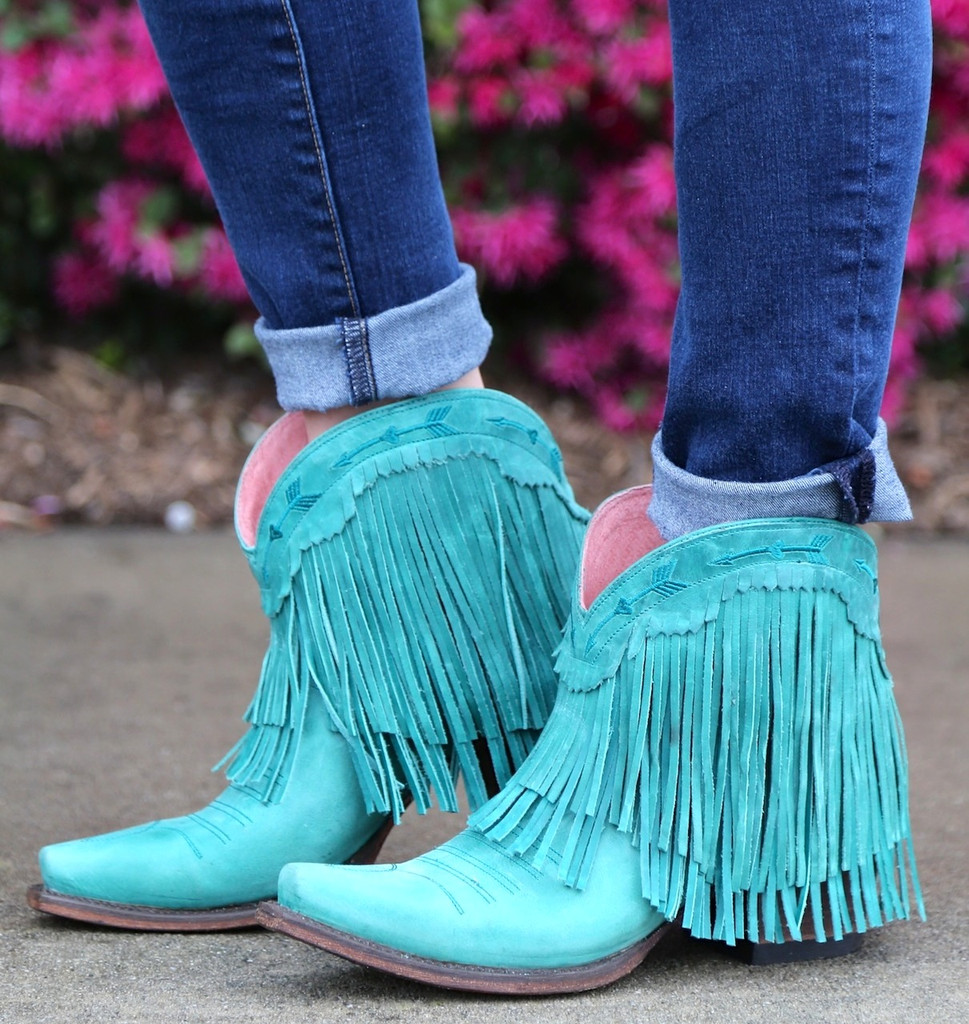 Junk Gypsy by Lane Spitfire Turquoise Boots JG0007D Side