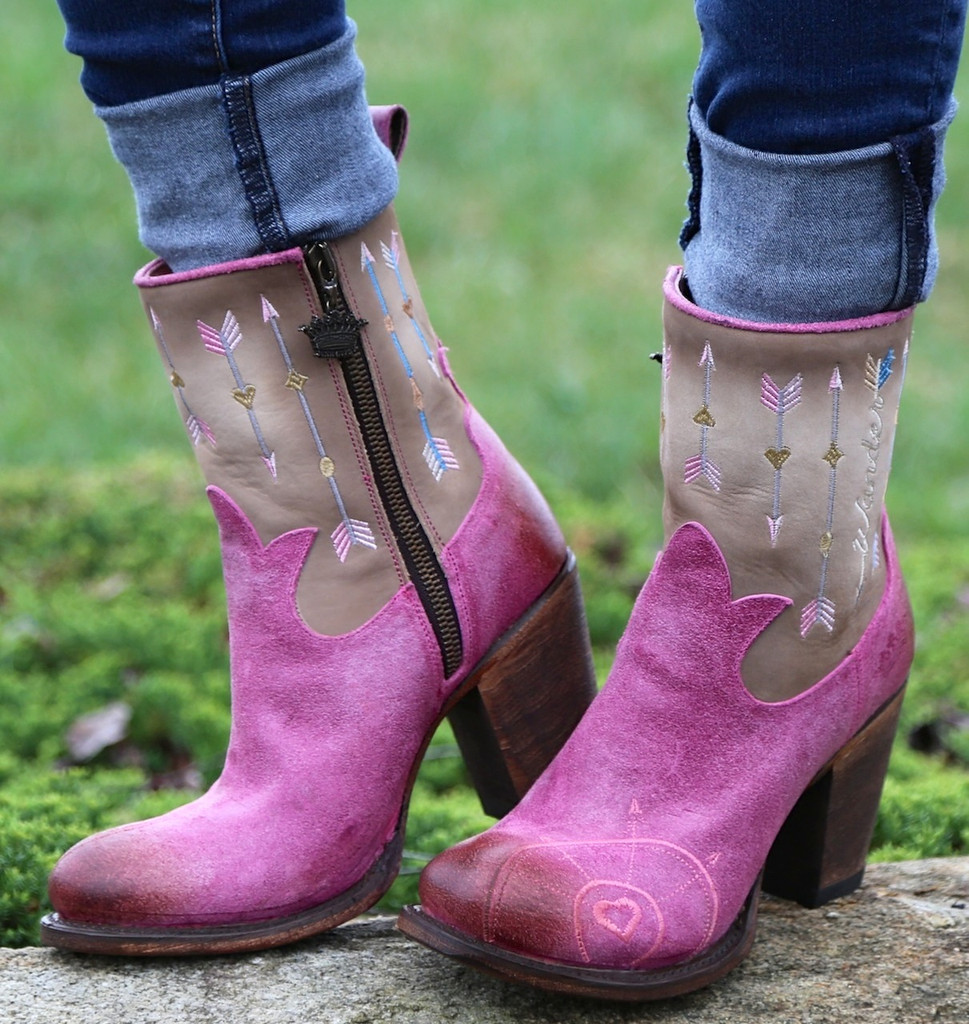 Junk Gypsy by Lane Wanderlust Pink Boots JG0011C Image