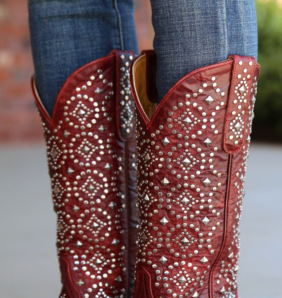 Old Gringo Difama Red Boots L2006-1 Collar