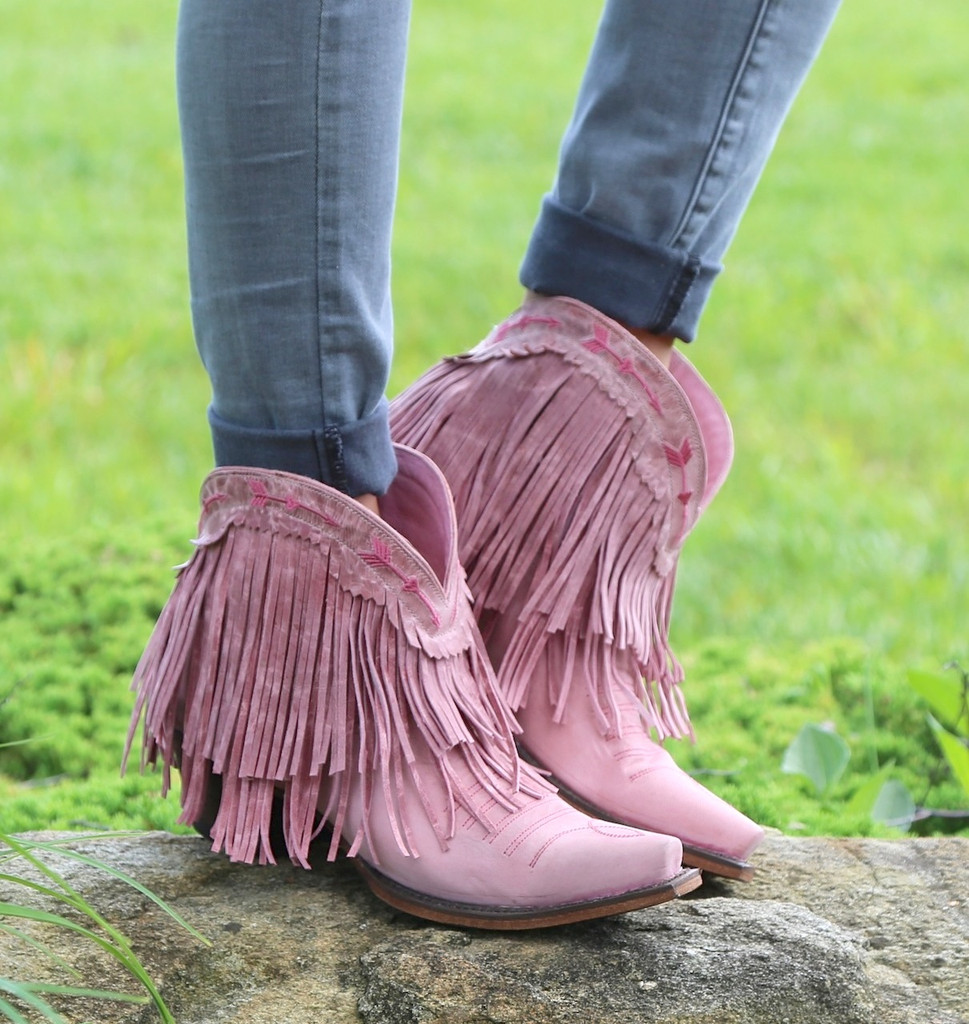 Junk Gypsy by Lane Spitfire Rose Pink Boots JG0007G Picture