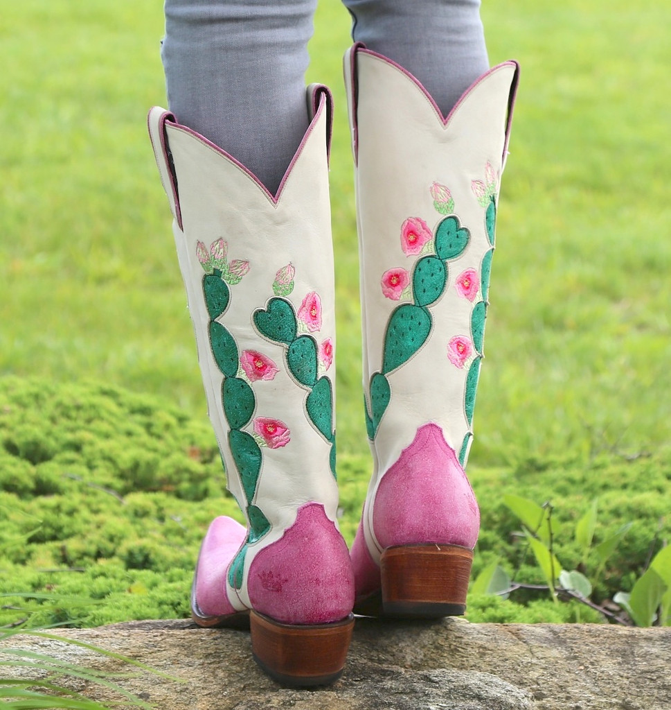 Junk Gypsy by Lane Hard to Handle Pink Boots JG0012B Heel