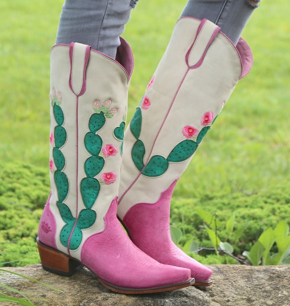 Junk Gypsy by Lane Hard to Handle Pink Boots JG0012B Photo
